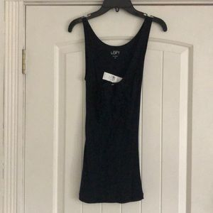 Ann Taylor loft extra small tank with ruffles